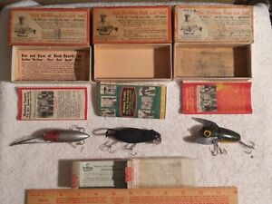 Vintage Heddon Crazy Crawler River Runt Meadow Mouse Fishing Lure Empty Box