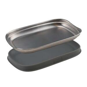 Tovolo 2pc Silicone & Stainless Steel Double Spoon Rest
