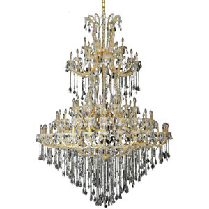2801 Maria Theresa Collection Chandelier D:72in H:96in Lt:85 Gold Finish (Swa...