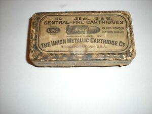 Very old empty cartridge box  UMC .38 S&W