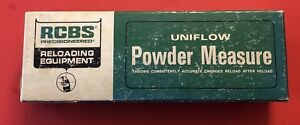 RCBS Uniflow Powder Measure Box Instructions - Large Cylinder - Reloading