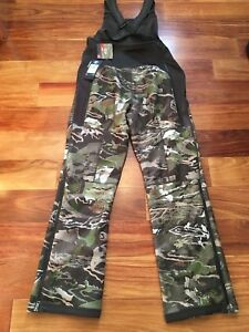 $170 Under Armour Realtree Camo Stealth Mid Season Scent Control Bib Pants SZ S