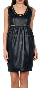 Spring Designer Lamb New Leather Women Dress Cocktail Stylish Party Wear  D-037