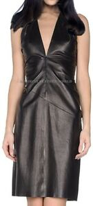 Spring Designer Lamb New Leather Women Dress Cocktail Stylish Party Wear  D-061