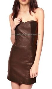 Spring Designer Lamb New Leather Women Dress Cocktail Stylish Party Wear  D-025