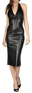 Spring Designer Lamb New Leather Women Dress Cocktail Stylish Party Wear  D-036