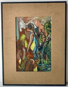 Randy Macatee Asheville NC North Carolina French Broad Pisgah Forest Painting $360.00