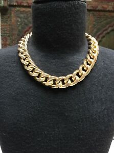 Vintage Nordstrom Gold Tone Chunky Chain Necklace Costume Jewelry