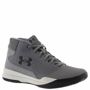Under Armour Men's Jet Mid Basketball Shoes Grey Black 3020224 100