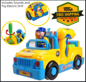 Musical Truck with Lights Take Apart Construction Toy for Toddlers Age 3 4 5 6