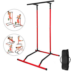 Portable Pull Up Dip Station Gym Bar Power Tower Chin Up Stand wbag
