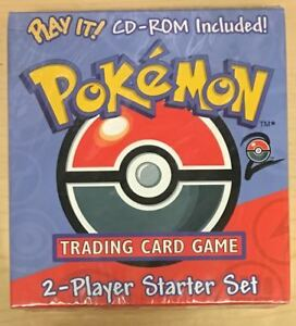 Pokemon Base Set 2 Two Player Starter Set + Play It! CD ROM - Factory Sealed QTY