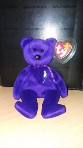 Ty Beanie Baby ~ PRINCESS Diana Bear from 1997 ~ RARE & RETIRED ~ 1st Edition