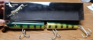 THE OLD WOODEN BAIT CO #1201 JOINTED MINNOW LURE 11