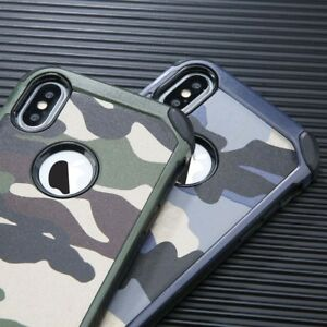 Camouflage For iPhone X XS Max XR 11 Pro Military Case Camo Army Rugged Case