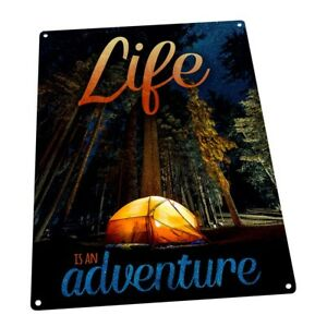 Life is Adventure Metal Sign; Wall Decor for Vacation Home $19.99