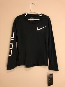Boy's Youth Size 6 Nike Elite Dry Dri-Fit Long Sleeve Basketball Shirt NWT