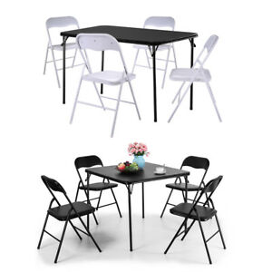 Folding Portable Table and Chairs Set Outdoor Garden Patio Camping Dining Party