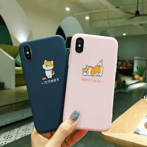 Cute Animal Funny Shiba Inu Print TPU Soft Case Cover for iPhone Xs Max 6 7 8 XR