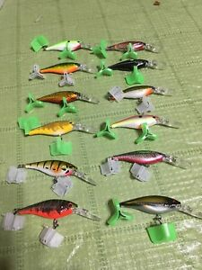 LOT Of 12 BERKLEY FLICKER SHAD LURES  SIZE 5 SOME RAREEXCLUSIVE STORAGE BOX