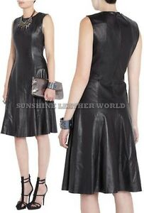 Spring Designer Lamb New Leather Women Dress Cocktail Stylish Party Wear  D-102