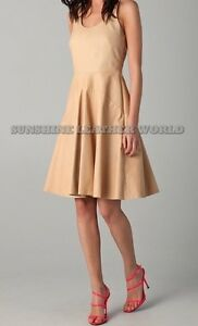 Spring Designer Lamb New Leather Women Dress Cocktail Stylish Party Wear  D-130