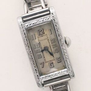 Ladies Vintage Art Deco Bulova Watch in Running Condition wAdjustable Bracelet