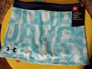 Girls Kids Youth Under Armour Shorts Skirt Skort NEW Tropical Tide Size 6