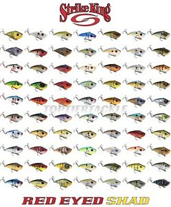 Strike King Red Eye Shad Lipless Crankbait Lure Select Size Color