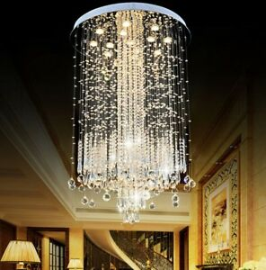 New LED crystal Light K9 Clear Crystal Ceiling Lights Pendant Lamps Chandeliers