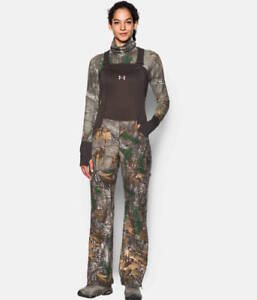 Under Armour Women's Hunting Mid Season Bib Size L Realtree Camo 1282692-947