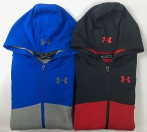 Boy's Youth Under Armour Storm Coldgear Loose Fit Full Zip Hoodie