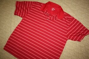 CHAMPIONS TOUR Mens Red Golf Polo Shirt XL EXTRA LARGE Stripe NEW Dry DRI-FIT