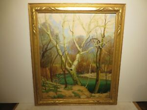 30x25 org. 1930 oil painting by Dwight C. Holmes of