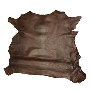 Springfield Leather Co. Rust Grenada Goat Hide Leather 3 5 sqft piece