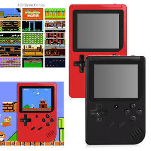 Mini Handheld Game Box TFT Screen Built-in 400 Retro Kids' Games Console Player