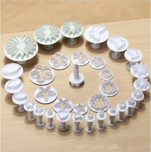 33 pcs Sugarcraft Fondant Cake Decorating Plunger Cutters Tools Mold Cookies USA