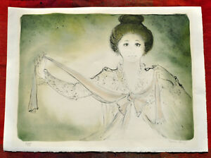 LARGE BERNARD CHAROY LITHOGRAPH of YOUNG WOMAN 36 150 $40.00