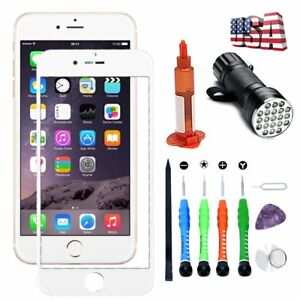 For iPhone 8 7 Front Outer Glass Screen Replacement Lens Repair Tools Kit Glue