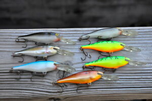 7 Vintage Rapala Deep Runners Sr8   Crankbaits Fishing Lures  ALL FINLAND MADE
