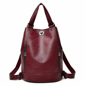 Women's Vegan Leather Backpack Casual Shoulder Bag Travel Satchel Rucksack Bags