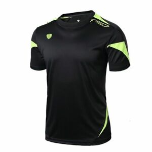 Mens Sports Running Shirts Fitness Gym Quick Dry Jersey Training Short Sleeve $18.99