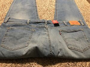 NWT LEVI'S 541 ATHLETIC FIT 2 WAY STRETCH DESIGNER MEN'S JEANS SIZE 48X32