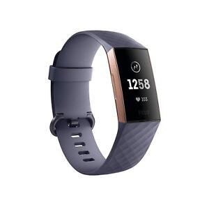 Fitbit Charge 3 Activity Tracker + Heart Rate - Rose GoldBlue Grey