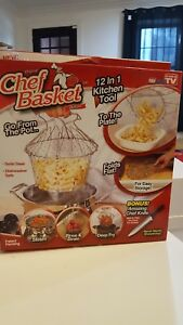 Chef Basket As Seen On TV New Strainer Colander Kitchen Sifter Cooking Cookware