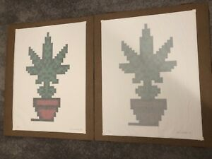 ComplexCon 2018 – Space Invader Hollyweed Screen Print Signed Set Edition of 100
