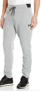 Under Armour Mens Apparel Tappered Sweat Pants Size 4XL Grey Joggers