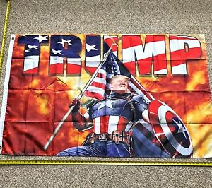 Donald Trump Flag FREE SHIPPING CAPTAIN AMERICA 3x5' Banner Poster Flags
