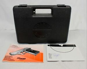 early SIG SAUER P230 factory case w MANUAL ~ GREY PLASTIC Padded Insert TARGET