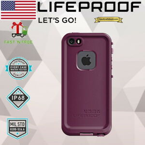 New LIFEPROOF FRE Waterproof Case Cover Crushed Purple iPhone SE iPhone 5s 5 NIB